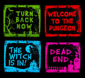Colorful Halloween Signs Stock Photography