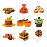 Colorful Halloween Sweets Vector Illustration Stock Photography