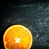 Colorful halved fresh orange Royalty Free Stock Photos