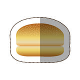 colorful hamburger bread icon Stock Images