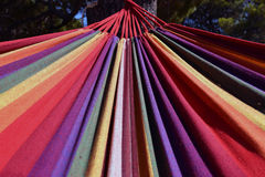 Colorful hammock. On the beach in summer Royalty Free Stock Photos