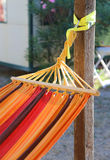colorful hammock to relax in the resort Royalty Free Stock Image