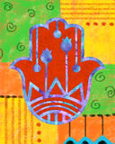 Colorful Hamsa Royalty Free Stock Image