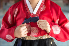 The colorful Hanbok, Korean traditional dress.  royalty free stock photo