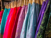 The colorful Hanbok, Korean traditional silk dress & ornaments for women.Rent for tourist. The colorful Hanbok, Korean traditional silk dress & ornaments for Stock Photos
