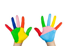 Colorful Hand. Royalty Free Stock Images