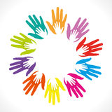 Colorful hand background Stock Photo