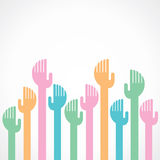 Colorful hand background. Stock Royalty Free Stock Images