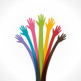 Colorful hand concept Royalty Free Stock Image