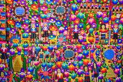 Colorful hand crafted textiles. Close up of colorful hand crafted traditional South American textiles royalty free stock image