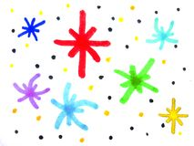 Colorful Hand Draw Abstract Background. Pattern stock illustration