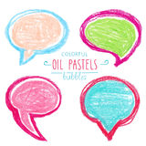 Colorful hand draw bubbles set. Vector illustration royalty free illustration