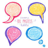 Colorful hand draw bubbles set. Vector illustration Royalty Free Stock Photo
