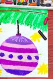 Drawing: Christmas balls Royalty Free Stock Photos