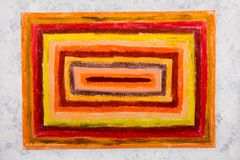 Colorful hand drawing: orange rectangles stock photography