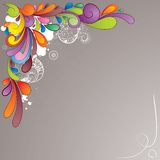 Colorful hand drawn background Stock Images