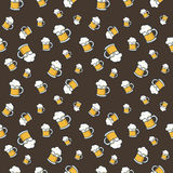 Colorful hand drawn beer seamless pattern Royalty Free Stock Photo