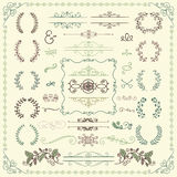 Colorful Hand Drawn Decorative Doodle Design Elements Royalty Free Stock Photos
