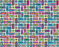 Colorful Hand Drawn Retro Pattern. Inspired by Hundertwasser and Kandinsky Stock Photography