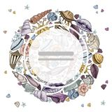 Vector seashells Set royalty free illustration