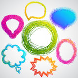 Colorful hand drawn speech Stock Image