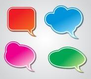 Colorful Hand Drawn Speech Stock Photo