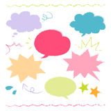 Colorful hand drawn speech balloon illustration Royalty Free Stock Photography