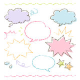 Colorful hand drawn speech balloon illustration Stock Photography