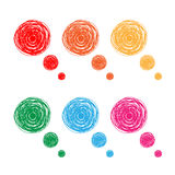 Colorful hand drawn thought bubbles Royalty Free Stock Photography