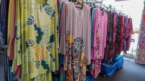 Baju kurung Kaftan or caftan. Colorful hand dyed baju kurung kaftan clothing for sale Stock Image