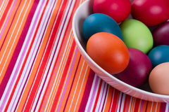 Colorful hand dyed easter egg Stock Photography
