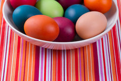 Colorful hand dyed easter egg Stock Image