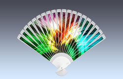 Colorful hand fan Royalty Free Stock Images