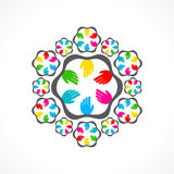 Colorful hand icon Royalty Free Stock Photo