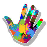 Colorful hand Stock Photography