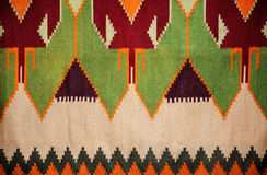Colorful hand made motley rug or carpet. Close up of beautiful colorful hand made motley rug or carpet Royalty Free Stock Image