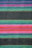 Colorful hand made motley rug or carpet. Close up of beautiful colorful hand made motley rug or carpet Royalty Free Stock Photos