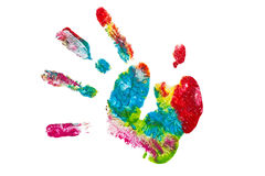 Colorful hand painted isolated Stock Images