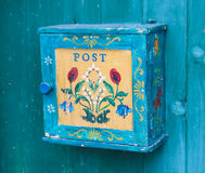 Colorful Hand painted Mailbox Royalty Free Stock Photo