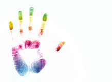 Colorful hand print Royalty Free Stock Photography