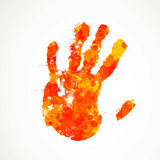 Colorful hand print. Illustration of an Abstract Background with Hand Print Royalty Free Stock Photos