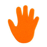 Colorful hand print sticker Royalty Free Stock Image