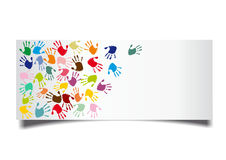 Colorful hand-prints Stock Photography