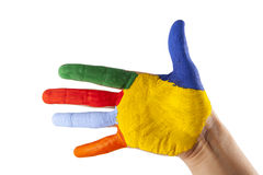 Colorful hand Stock Photos