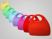 Colorful handbags Royalty Free Stock Images