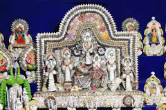 Colorful handcraft made by conch shell. Durga Maa. Royalty Free Stock Image