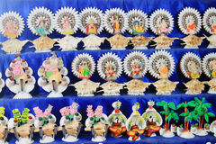 Colorful handcraft made by conch shell. Stock Images