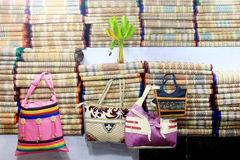 Colorful handcraft made by jute. Stock Image