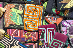 Colorful handcrafted purses Royalty Free Stock Photography