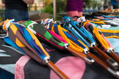 Colorful handcrafted umbrellas Royalty Free Stock Photo